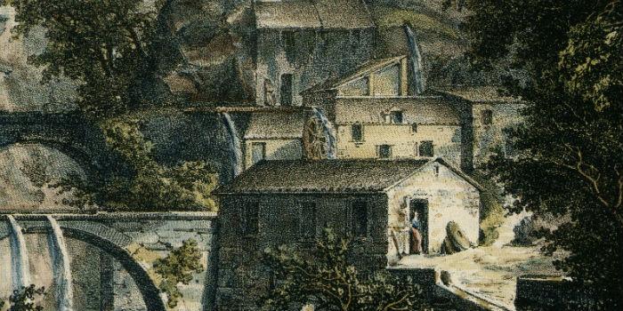 Dessin du château de Saint-André de Louvois vers 1815